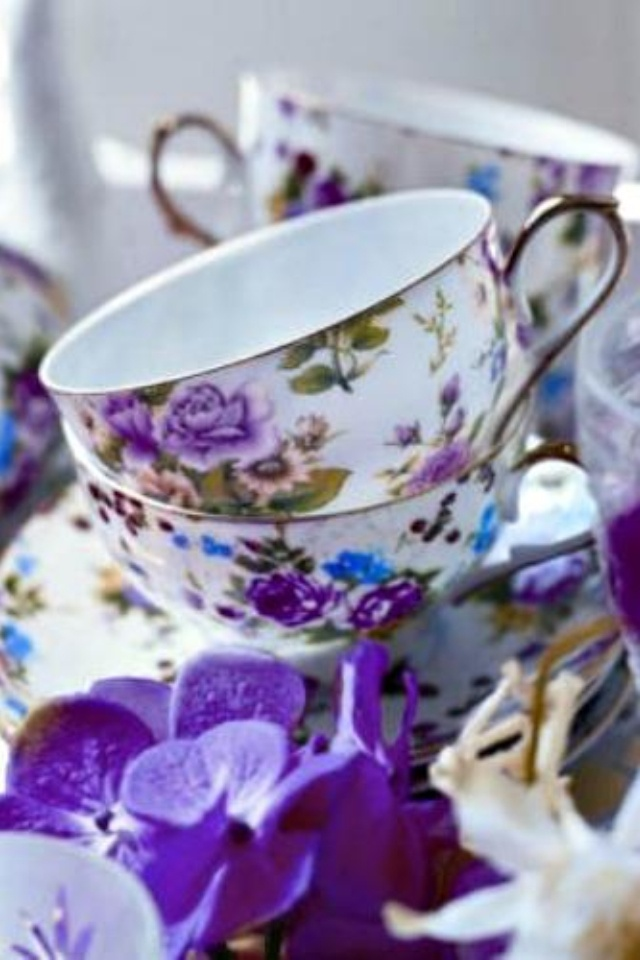 purple themed bridal shower%0A Tea party purple  bridal shower