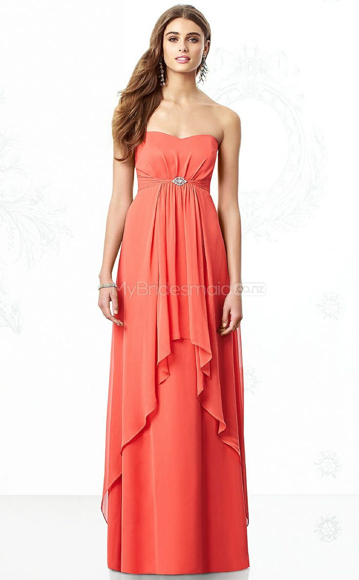 48 best wedding dresses images on pinterest marriage wedding watermelon chiffon sheath sweetheart floor length bridesmaid dresses nzbd06852 ombrellifo Image collections