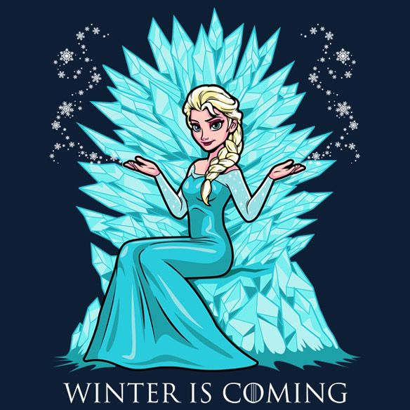 Jon Snow and his family might know a thing or two about winter but the Frozen Winter Is Coming T-Shirt reveals someone even more knowledgeable on the subject than the Starks.  You have to know a thing or two about ice and snow in order for others to start referring to you as the Snow Queen, an