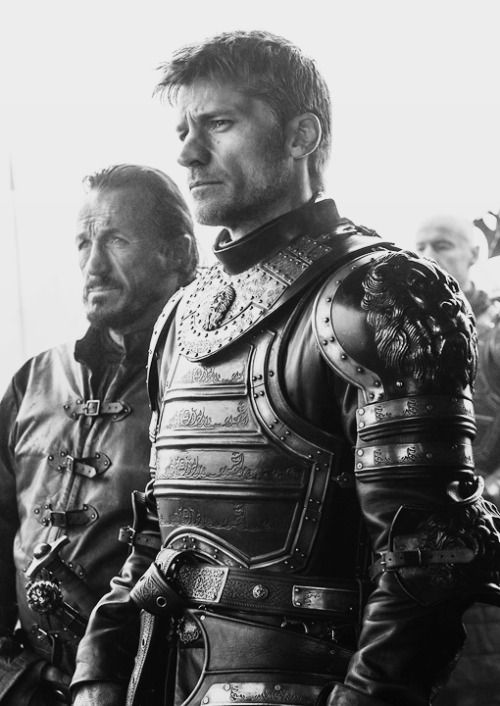 "Jaime Lannister and Bronn, Together they made war against Brynden ""The Blackfish"" Tully , Game of Thrones season 6. 07"