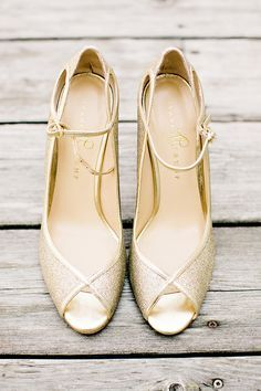 These shoes are the perfect something gold.