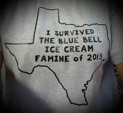 I survived the Blue Bell Famine of 2015 shirt - Gray shirt: