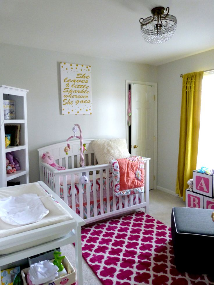 We love the pop of color in this fab rug from @Target! #nursery