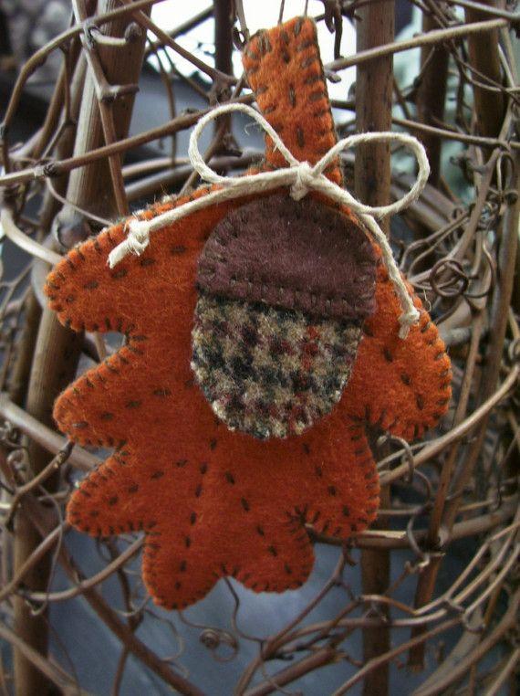 autumn leaf... by urbanpaisley on Etsy, $13.00