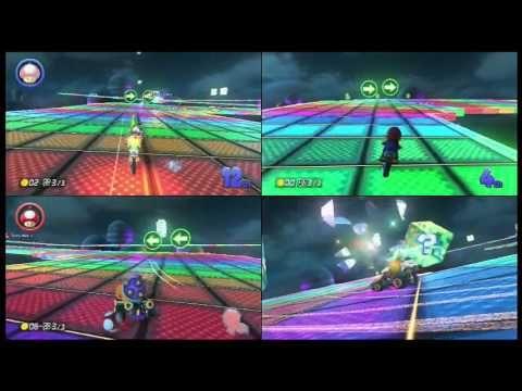 Kids vs Dad Mario Kart 8 - Baby Rosalina, Roy and Mario