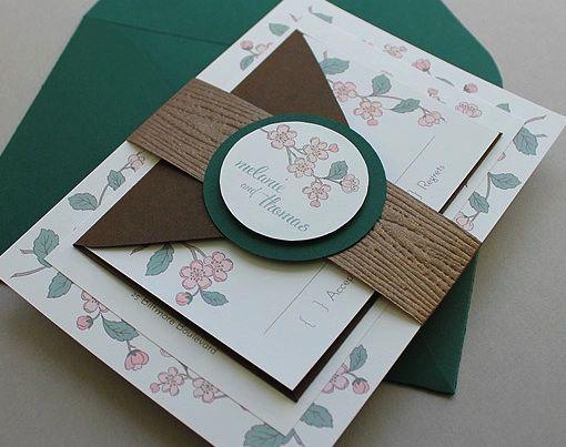 When Should Wedding Invites Be Sent: DIY Spring Branch Wedding Invitation Set, With Invitation
