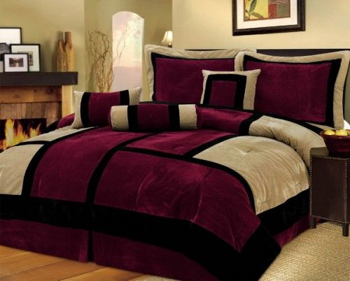Google image result for for Black and burgundy bedroom ideas