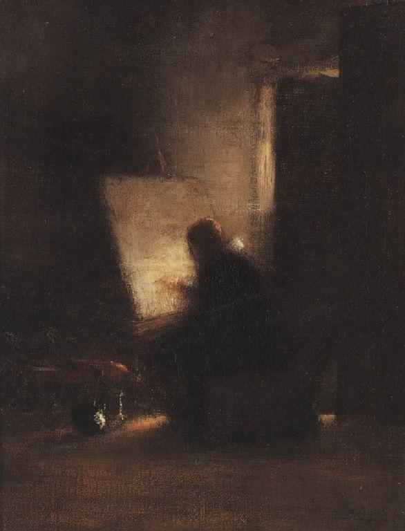 Γύζης Νικόλαος – Gyzis Nikolaos [1842-1901] Μοναχός ζωγραφίζει