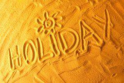 ビーチ、週末、ビーチ、レタリング、砂、休日、海、太陽の休日