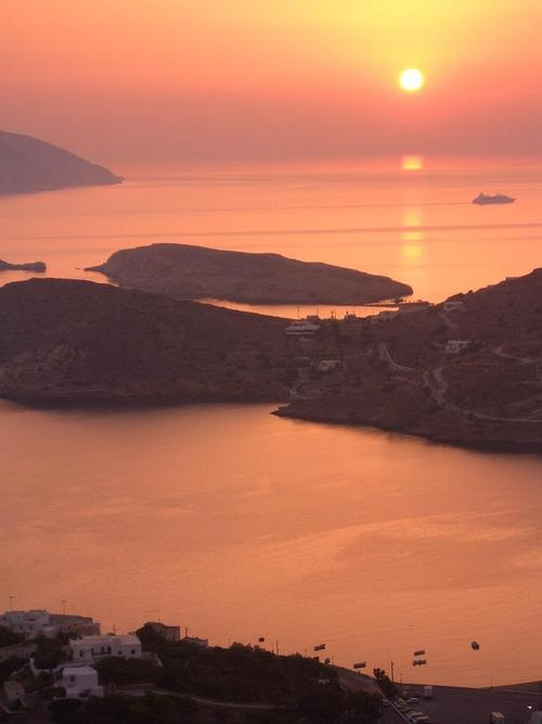 Stunning sunset - Ios island #Greece #summer #sunset