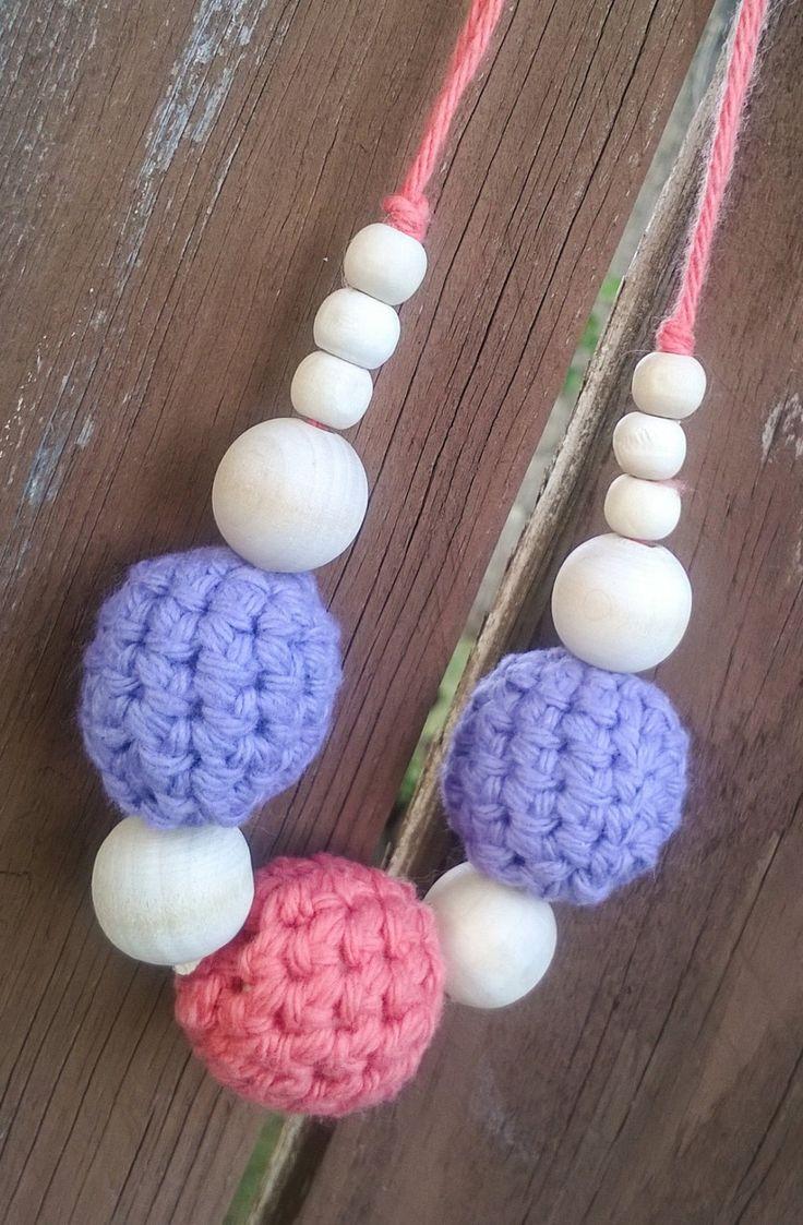 Crochet Cotton Wood Teething Nursing by LilyBugDesignsND on Etsy, $15.00