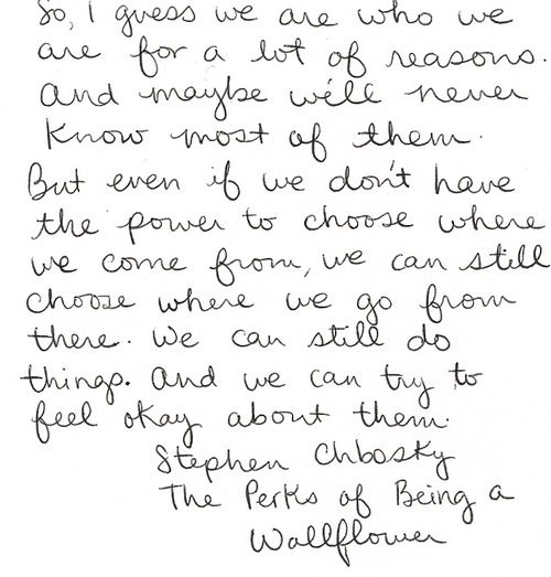 @The Perks of Being a Wallflower Movie #WallflowerQuotes