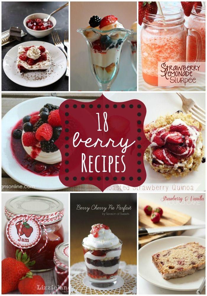 18 Berry Recipes - a roundup of awesome berry recipes!! { lilluna.com }
