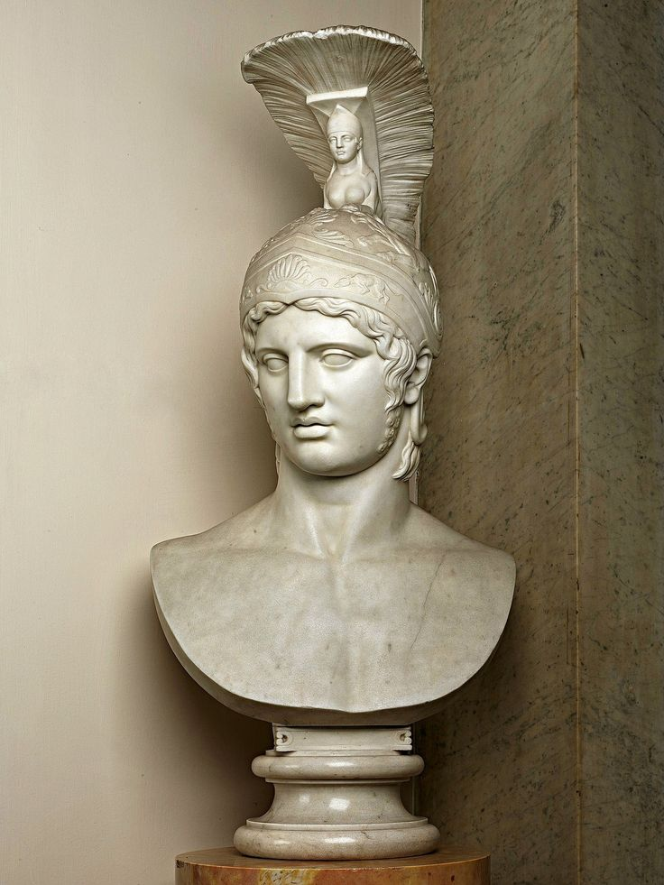 QUEST FOR BEAUTY - Bust of Achilles as the God Mars. 1856. William...