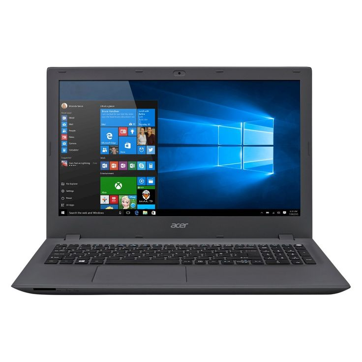 Acer Aspire E 15, 15.6 HD, Intel Core i3, 6GB DDR3L, 1TB Hdd, Windows 10 Home, E5-573-378G - Black (Acer Aspir), Grey