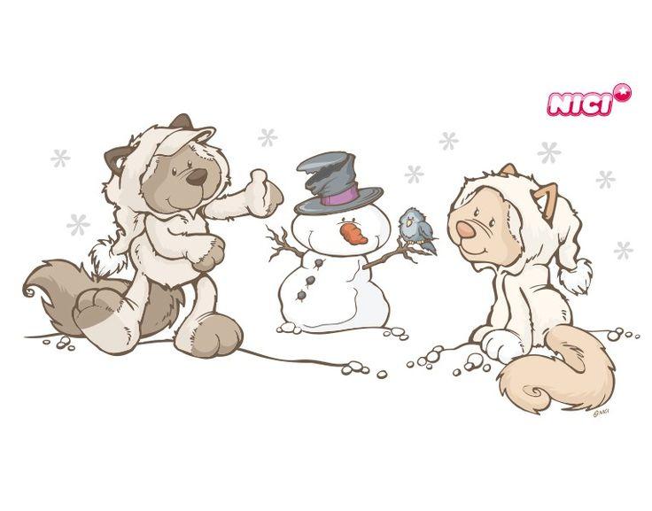 Wandtattoo Snow Cats