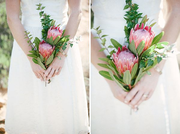 Loving the simplicity of this gorgeous minimal wedding bouquet...