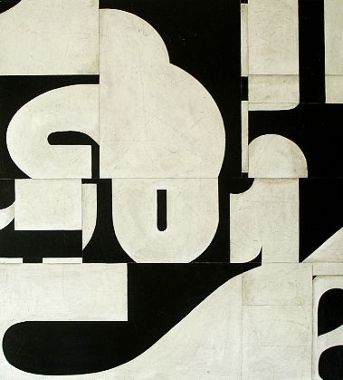 Cecil Touchon - Cutting up letters which I then pieced back together that make interesting shapes that has been carefully considered to create enough negative space.