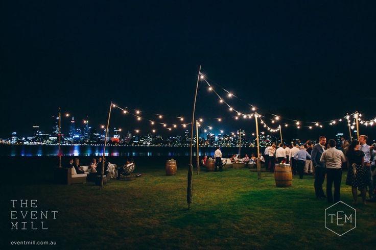 Wedding Reception Set Up #wedding #reception #festoon #perth #southperth #lighting #event #hire