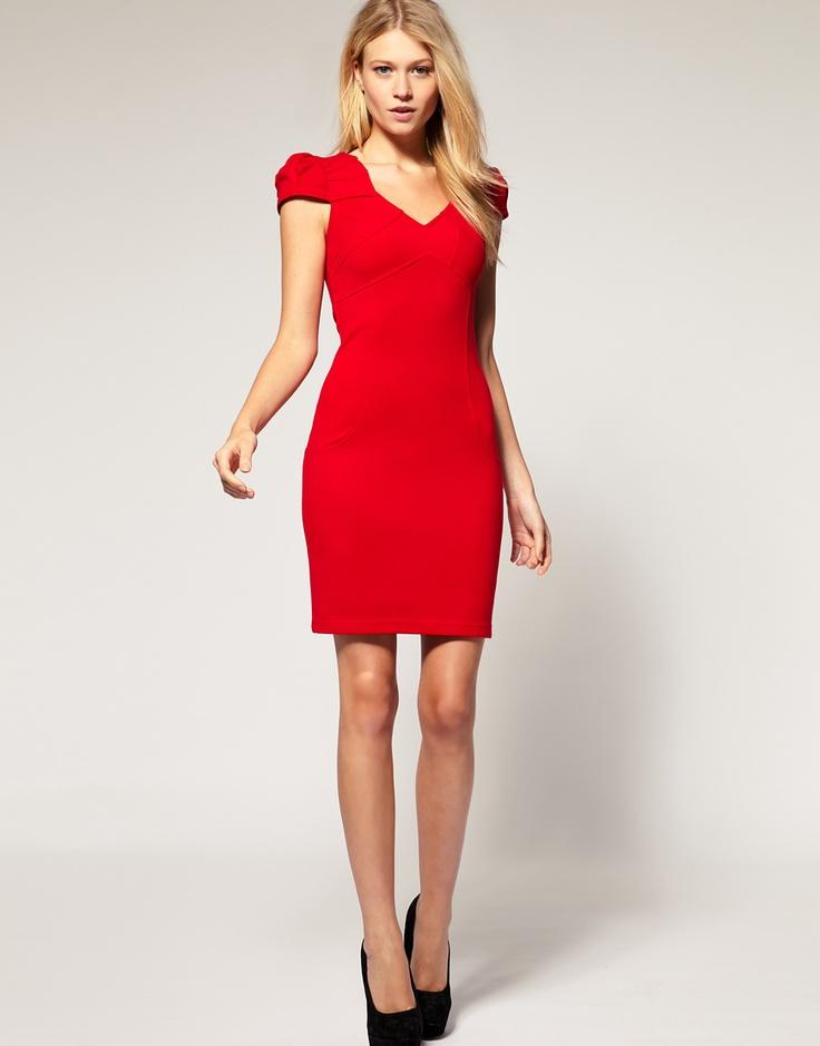 Vestido tubinho vermelhoAsos Com, Red Offices, Vestidos Tubinho, Chilli Style, Women Style, Compras Vestidos, Dresses Dresses, Offices Dresses, Aces Petite