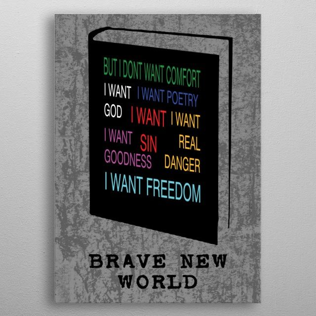 December Deal - Use code: SNOWMAN Buy 3-4 get 15% OFF | 5+ 25% OFF. Brave New World  Poster by Emily Pigou. #bravenewworld #minimal #book #poster #literature #bookworm #bookwormgifts #books #scifi #literature #novel #aldoushuxleybook #home #homegifts #freedom #livingroom #homedecor #gifts #family #discount #future #deals #shopping #xmas #christmas #xmasgifts #art #design #art #displate #sales #save #discount #giftsforhim #christmasgifts #giftsforher #39;s #sciencefiction #dystopianfiction