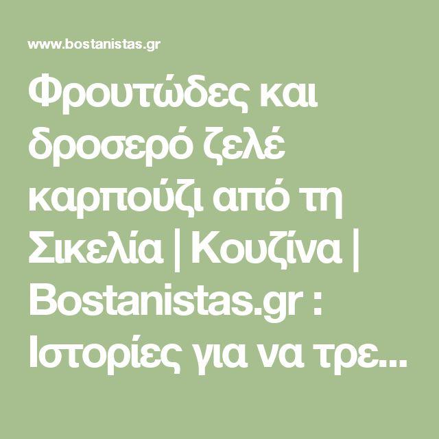 Φρουτώδες και δροσερό ζελέ καρπούζι από τη Σικελία   Κουζίνα   Bostanistas.gr : Ιστορίες για να τρεφόμαστε διαφορετικά