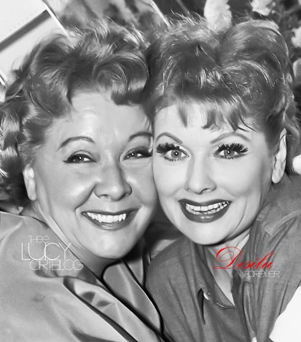 LUCILLE BALL & VIVIAN VANCE YOU CAN SEE THE LOVE FOR EACH OTHER IN THEIR SMILING EYES