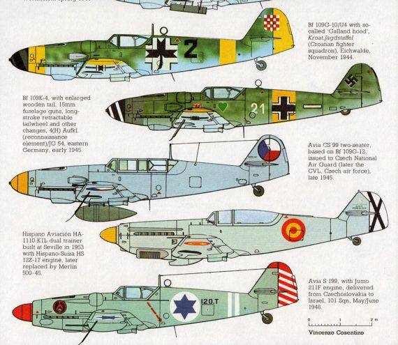 AIRCRAFT print, WWII airplane, Messerschmitt Bf 109, military aircraft print…