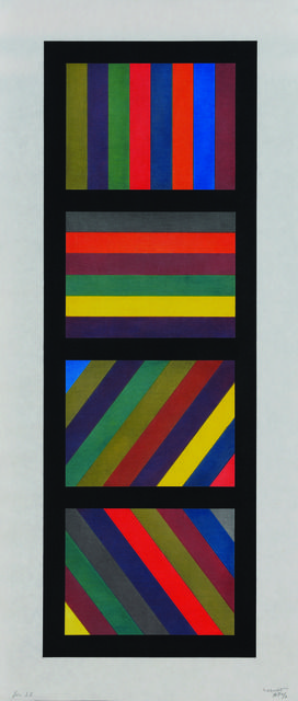 Bands of Lines in Four Directions (Vertical | Sol LeWitt, Bands of Lines in Four Directions (Vertical (1994)
