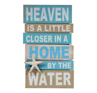 Wood Heaven Coastal Wall Sign