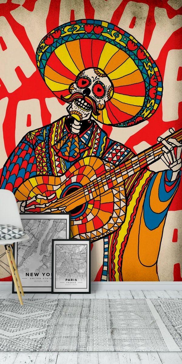 Mariachi Wall Mural Con Imagenes Arte Mural Murales Diseno