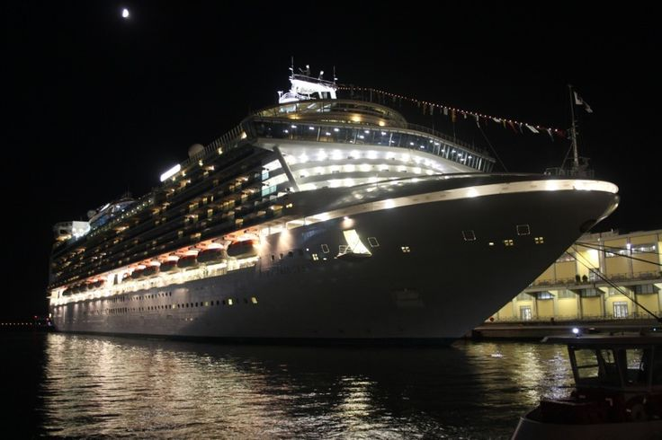 Princess Ruby berthed in Venice, Italy