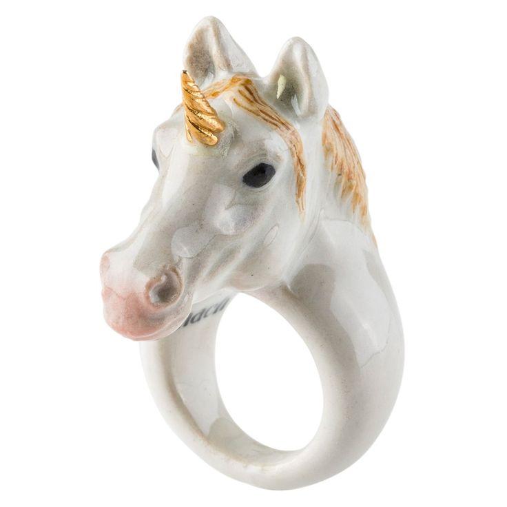 Gold Unicorn Ring Medium   The Conran Shop