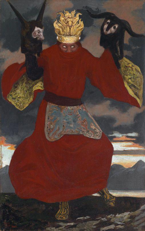 The Shaman - Sascha Alexander Schneider  1901