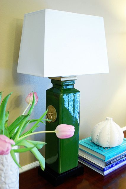 DIY lamp. Did this with a vase from Hobby Lobby.
