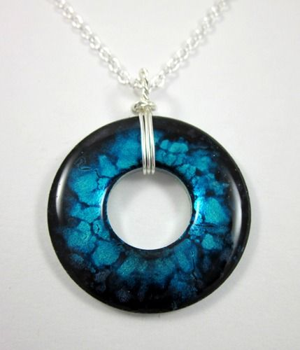 """""""No two will ever be the same!"""" - SLC. Custom Handcrafted Washer Necklace up for auction, starting at $8."""