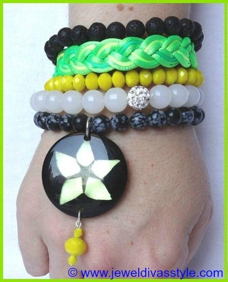 "JDS - JEWEL DIVAS ""FLEETING MOMENTS"" BRACELET STACK - http://jeweldivasstyle.com/designer-inspired-brand-new-bracelet-stacks/"