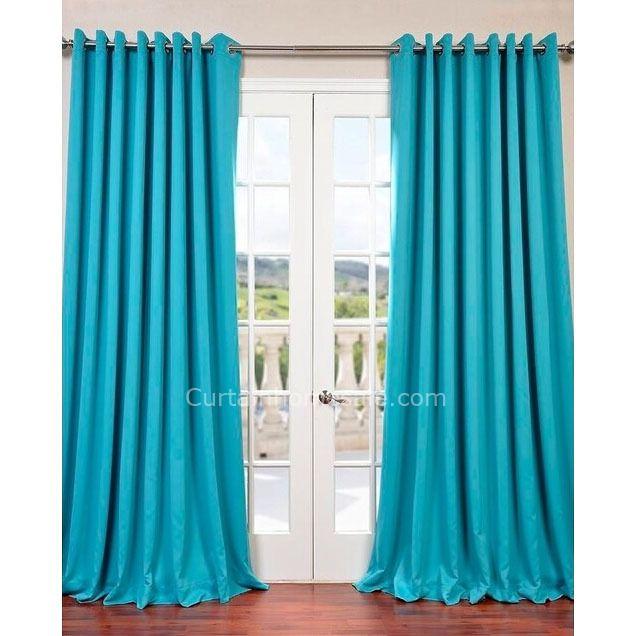 migliore moderno solido turchese camera da letto Tende Moderne CHS021306236
