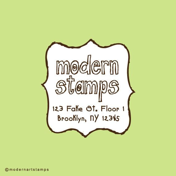 Frame Return Adresss Stamp - Custom Rubber Stamps by Modern Art Stamps
