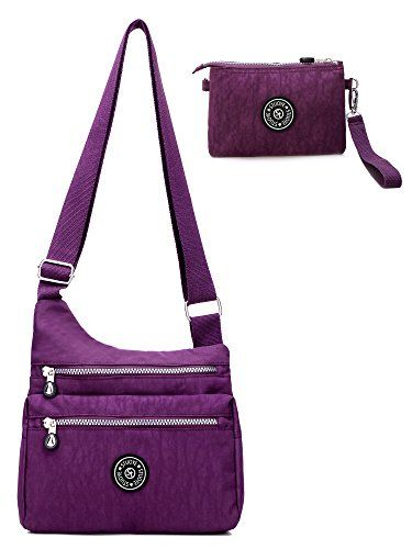 New Trending Cross Body Bags: STUOYE Nylon Crossbody Bag for Women with Purse Bag Travel Shoulder handbags Purple. STUOYE Nylon Crossbody Bag for Women with Purse Bag Travel Shoulder handbags Purple   Special Offer: $16.99      477 Reviews Happy Day starts with STUOYE crossbody Bag! STUOYE Let You Have practical,multiful and fashion crossbody bag and backpack.Meet your all needs. LIGHTWEIGHT and...