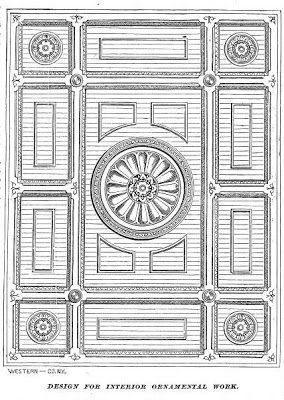 VICTORIAN INTERIORS AND MORE: A Dining Room Ceiling design, 1869
