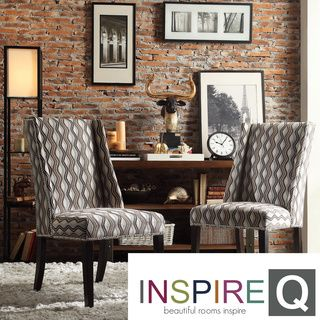 Inspire Q Regency Primary Wavy Stripe Nailhead Wingback Hostess Chairs (Set  Of 2) · Stripe PrintDining Room ...