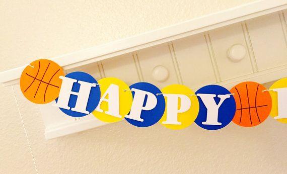 Warriors Happy Birthday Banner Dubs Birthday by girlygifts07