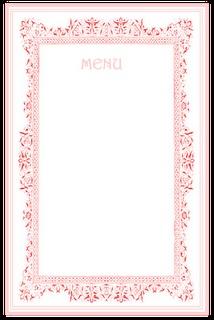 tea party menu template