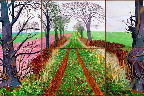 david hockney trees
