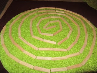 spiral art with citiblocs
