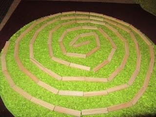 spiral art with citiblocs