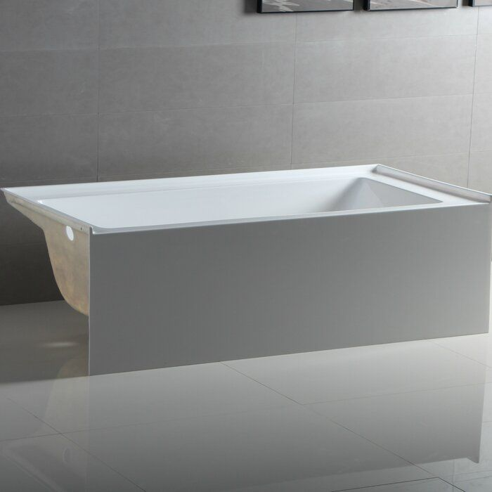 Apron Acrylic 54 X 30 Alcove Soaking Bathtub Soaking Bathtubs Bathtub Bathtub Drain