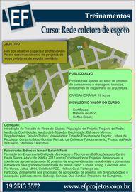 Curso Presencial Rede coletora de esgoto - Campinas -29 e 30 de julho de 2016