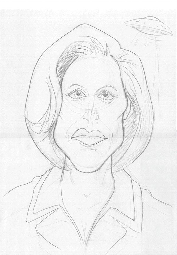 Gillian Anderson art | decor | wall art | inspiration | caricatures | home decor | idea | humor | gifts